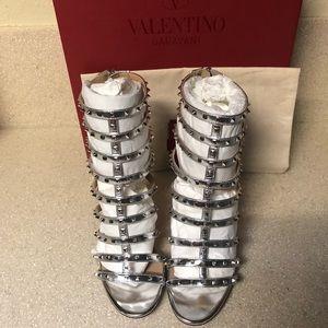 Valentino Garavani Shoes - Valentino Caged Rockstud Heel Silver Sz 36.5 / 6.5